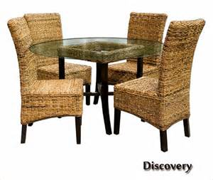 Wicker Dining Room Furniture Discovery Indoor Wicker 6 Pc Dining Room Set From Capris Furniture Ebay