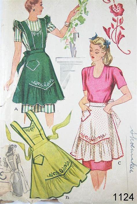 sewing pattern vintage apron 242 best vintage aprons images on pinterest aprons