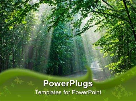 powerpoint template beautiful sunshine light through the