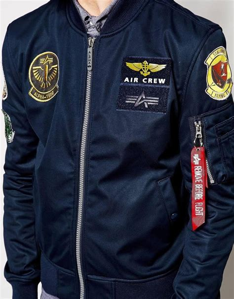 Jual Jaket Bomber Alpha Industries alpha industries alpha industries bomber jacket with patches exclusive at asos things to