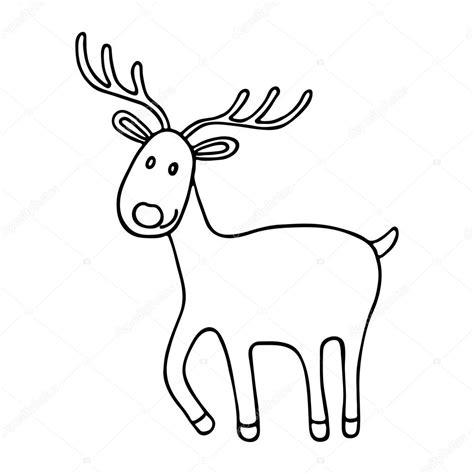 imagenes de navidad venados icono de venados de dibujos animados navidad vector de