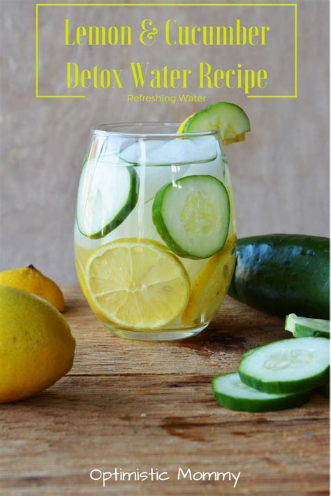 Recipe For Detox Water With Lemon Cucumber And Mint by Lemon Cucumber Detox Water Recipe Optimistic