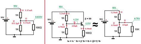 1k resistor voltage drop how bjt transistor works with conventional current notation perspective physics forums the