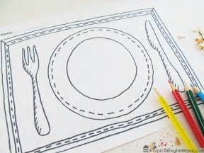 Placemat Template Printable by A Typical Home Printable Placemats For To Color
