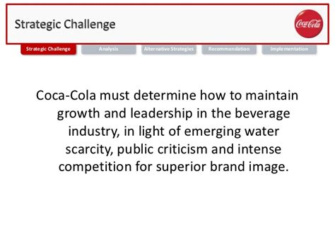 Mba Leadership Ethics by Mba 691 Business Ethics Coca Cola Water Sustainability