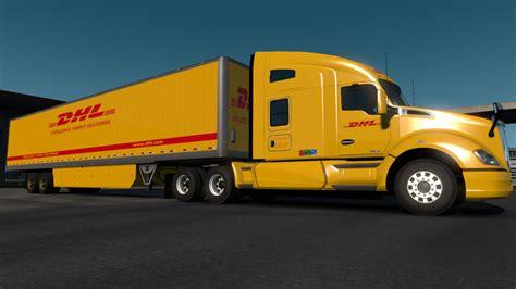 dhl worldwide express skin american truck simulator mods