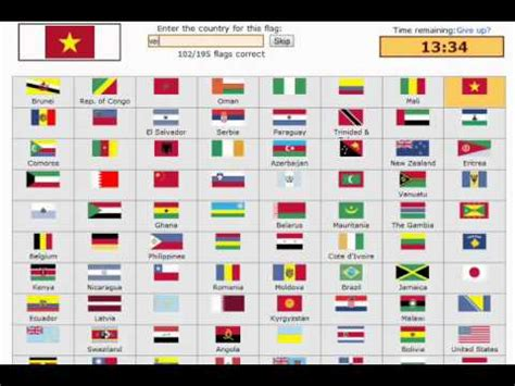 flags of the world on youtube sporcle flags of the world youtube