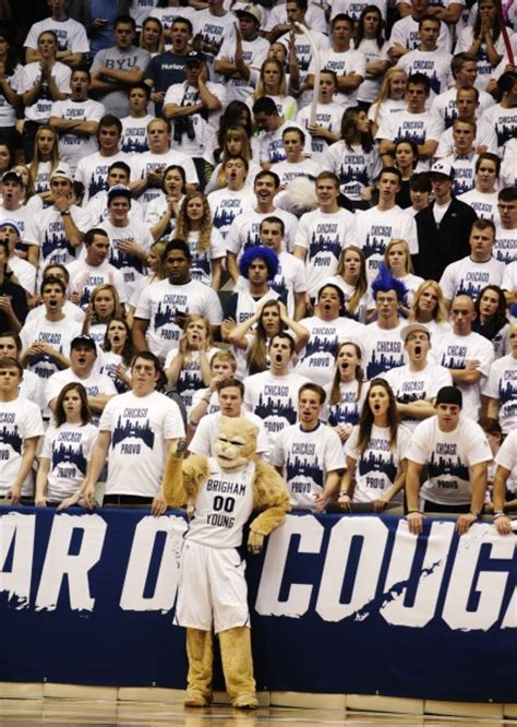 byu student section byu basketball will make 1st of what could be four visits