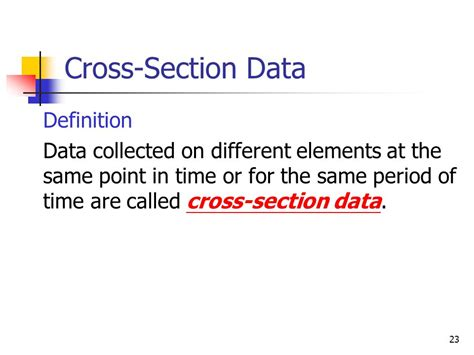 Define Cross Sectional Data by Chapter 1 Introduction Ppt
