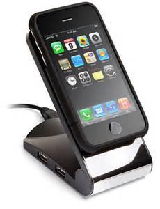 Desk Top Computer Sale Non Slip Gadget Holder With 4 Port Usb Hub Thinkgeek