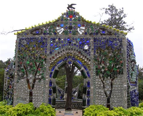 bottle house amazing garden chapel made from bottles artpeople net