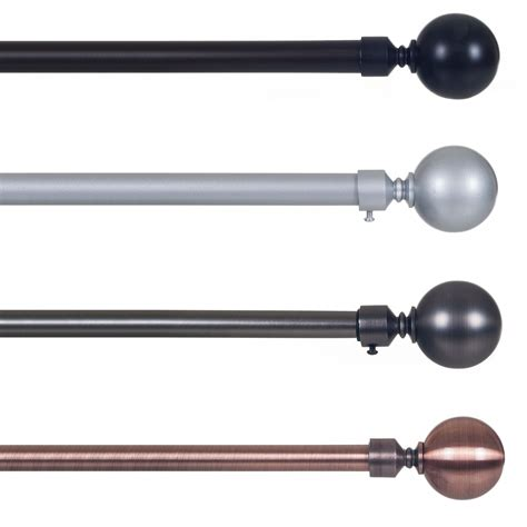 3 inch curtain rods lavish home sphere 3 4 inch curtain rod home home