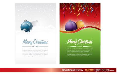 christmas flyer template free vector download free