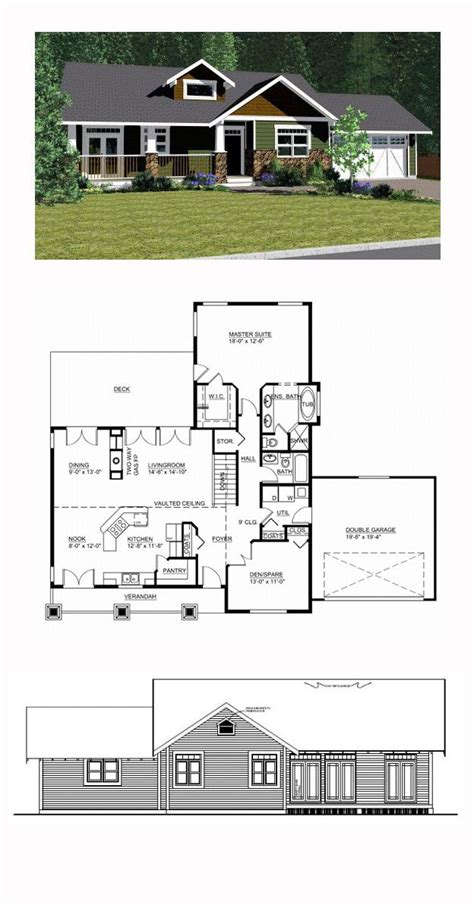 cool ranch house plans ranch style cool house plan id chp 44492 total living