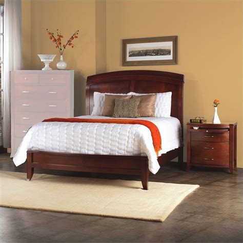 modus furniture brighton wood low profile sleigh bed 3