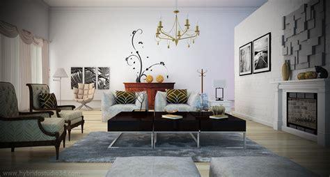 white living room chic unique