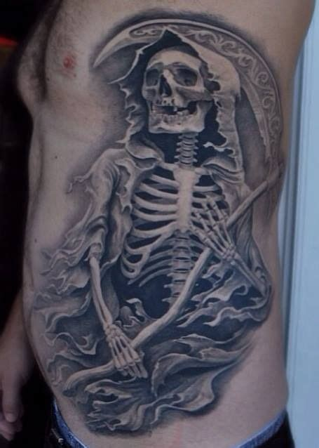 skeleton tattoo grim reaper ink junkies pinterest