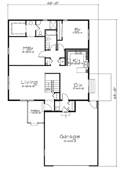 house plan 1761 square feet 57 ft traditional style house plan 2 beds 2 baths 1366 sq ft