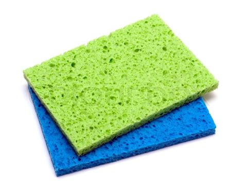 kitchen sponge kitchen color sponge isolated on a white background stock photo colourbox