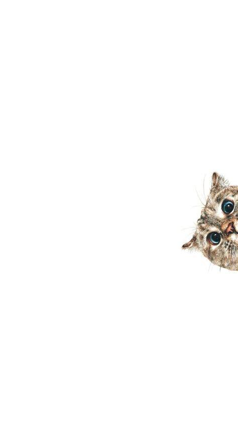 curious cat sneaking  iphone  wallpaper hd