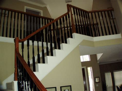 how to paint a banister black new trend to the white spindles on your staircase paint