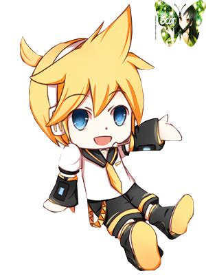 len q len kagamine vocaloid render 3 chibi by elvascar on