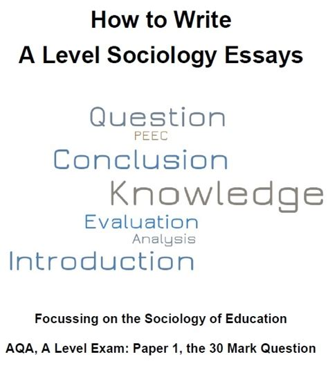 A Level Sociology Essays by A Level Sociology Families And Households Revision Bun