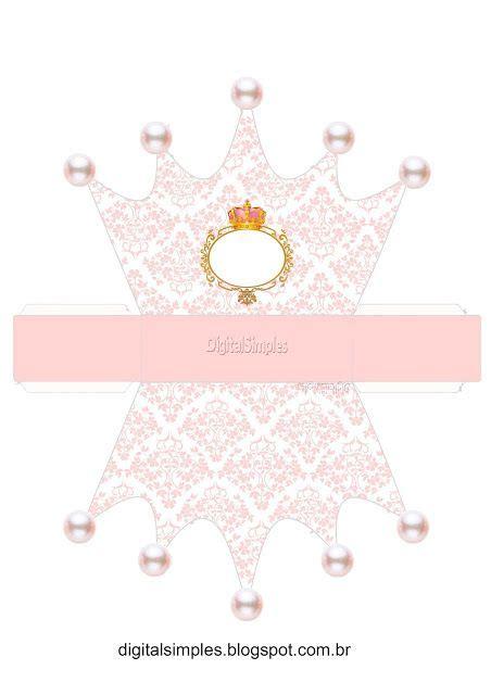printable baby crown pink and gold crown free printable crown box boxes