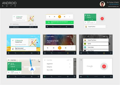 themes for android auto android auto gui kit materialup