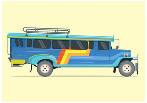 philippine jeep drawing free jeepney illustration vector free vector