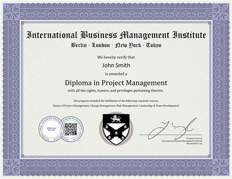 Institute Of Management Mini Mba Certification by International Business Management Institute Ibmi