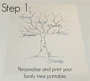 Wedding Family Tree Template by Family Tree Template Family Tree Thumbprint Template