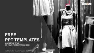 Free Fashion Powerpoint Templates by Boutique Display Window With Mannequins In Fashionable
