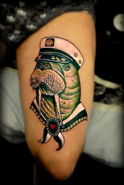 walrus tattoo nautical images designs