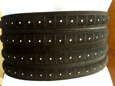 azzedine alaia wide black suede corset belt at 1stdibs