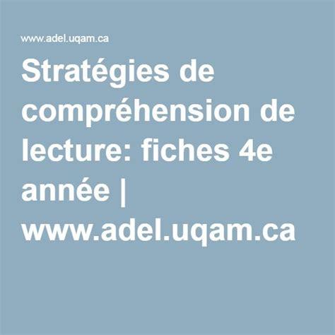 Calendrier Scolaire Uqam 17 Meilleures Id 233 Es 224 Propos De Compr 233 Hension De Lecture