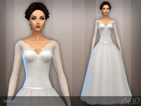 sims 4 wedding wedding dress 25 v 2 at beo creations 187 sims 4 updates