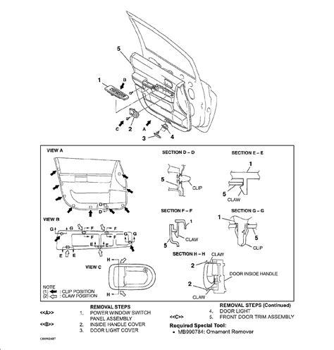 2004 mitsubishi endeavor door panel removal instructions window crank service manual 1994
