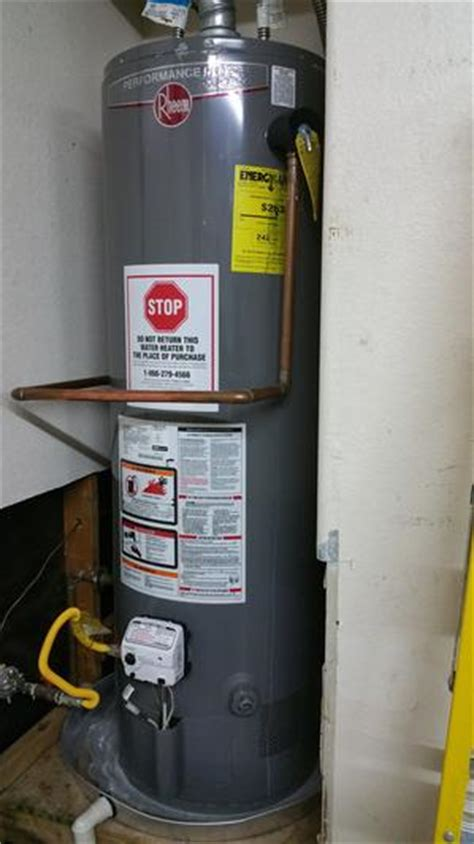 water heater installation reviews pg 1 the home depot