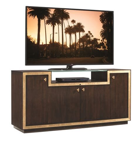 Teak Außenmöbel Clearance by Sligh Bel Aire Palisades Media Console With Glass Display