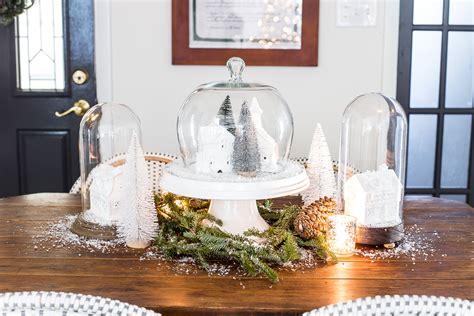 christmas village snow globe centerpiece bless er house