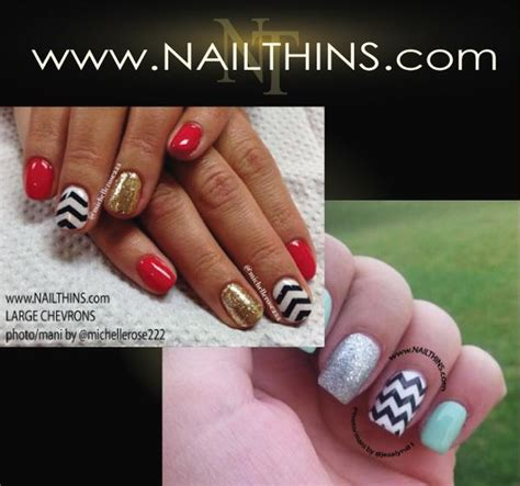 Nail Vinyl Stencil Sticker Stiker Nail Chevron Water Marble chevron zig zag striped nailthins nail nail decal nail transfer