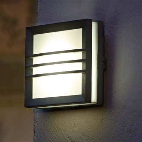 Patio Wall Lighting Lutec Lighting Mini Seine 3341s Square Wall Light At Love4lighting