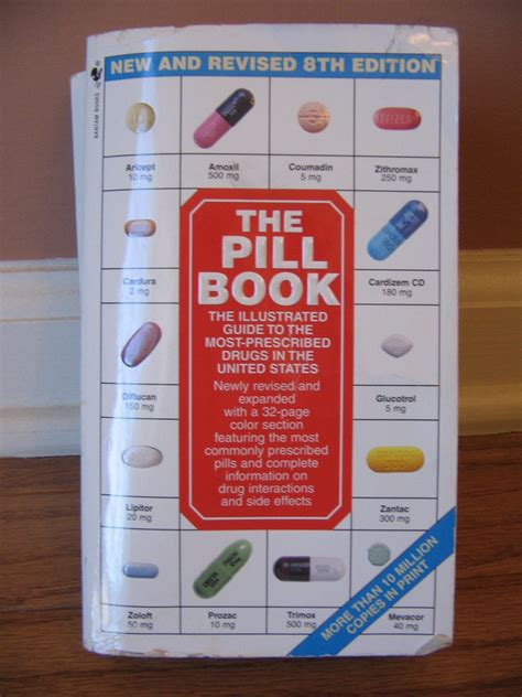 pill book with pictures the pill book illustrated guide to most prescribed u s