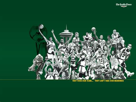 nba sonics wallpaper seattle times newspaper
