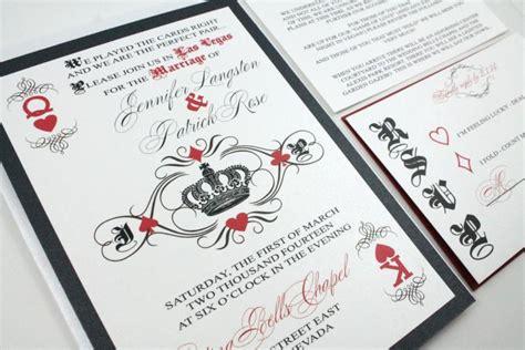 vegas wedding card las vegas wedding invitations and unique card
