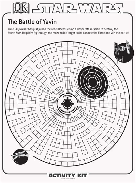 printable star wars maze the ultimate activity sheets for any star wars fan