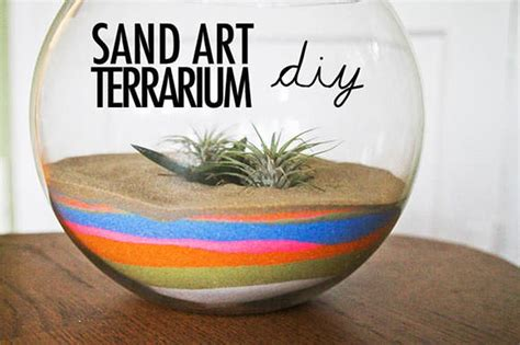 sand craft projects make a sand terrarium dollar store