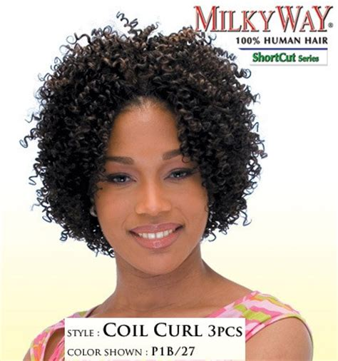 qutix brazilian natural shortcut bundle 3pcs milkyway shortcut human hair weave coil curl 3pcs
