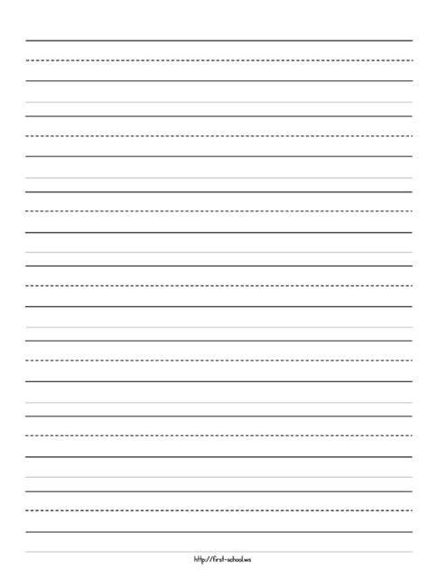 templates for kindergarten writing best photos of kindergarten handwriting paper printable